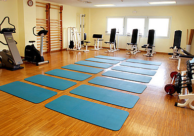 Fitnessruimte bij GEM Wellness & Spa in Spanje